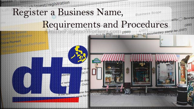 How to Register a Business Name, Requirements and Procedures