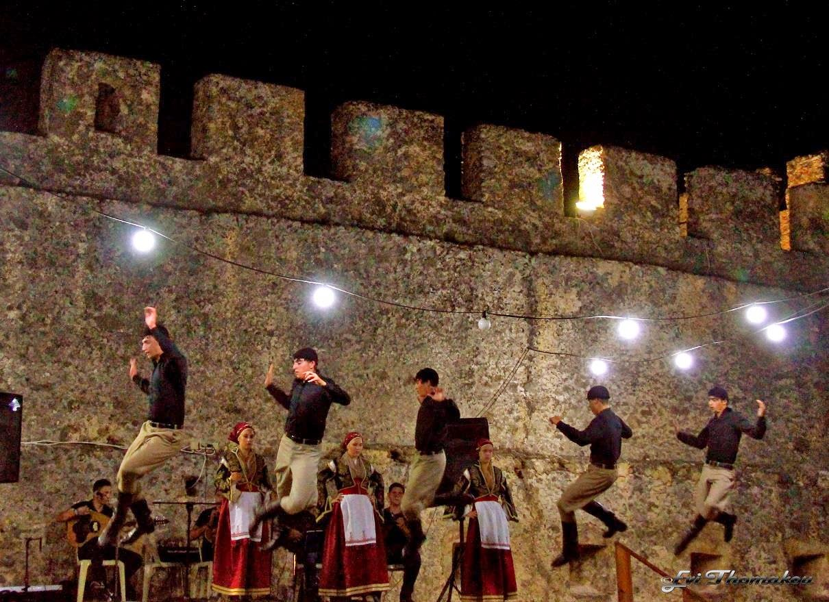Dancing in Frangokastello fortress
