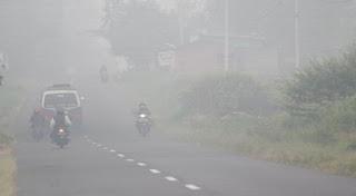 kebakaran hutan berbagai daerah di Sumatera Selatan