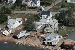 Houses destroyed by Irene