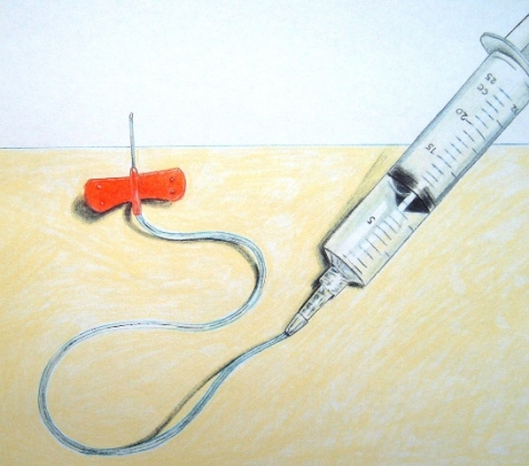 how to draw blood with a syringe
