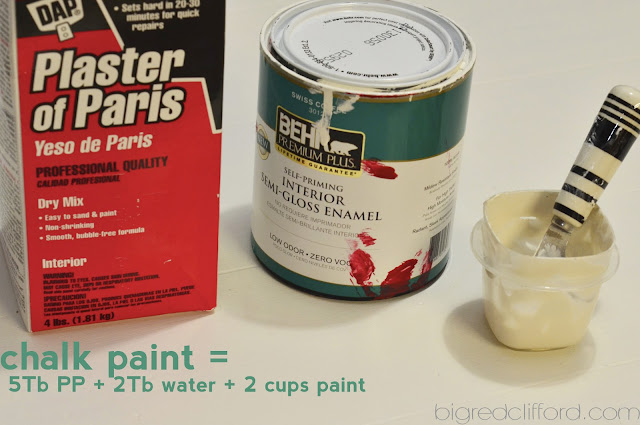 Mix up your plaster of paris with a little bit of water at a time