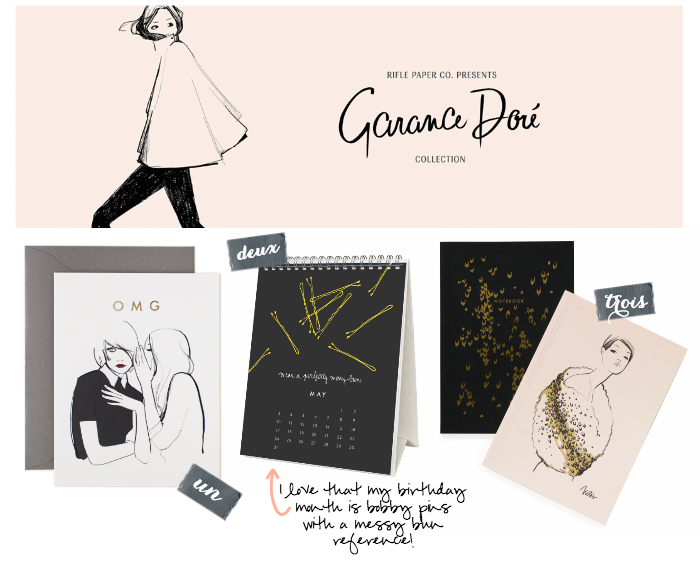 Favourites from the Rife Paper Co. X Garance Dore stationary collaboration 2014