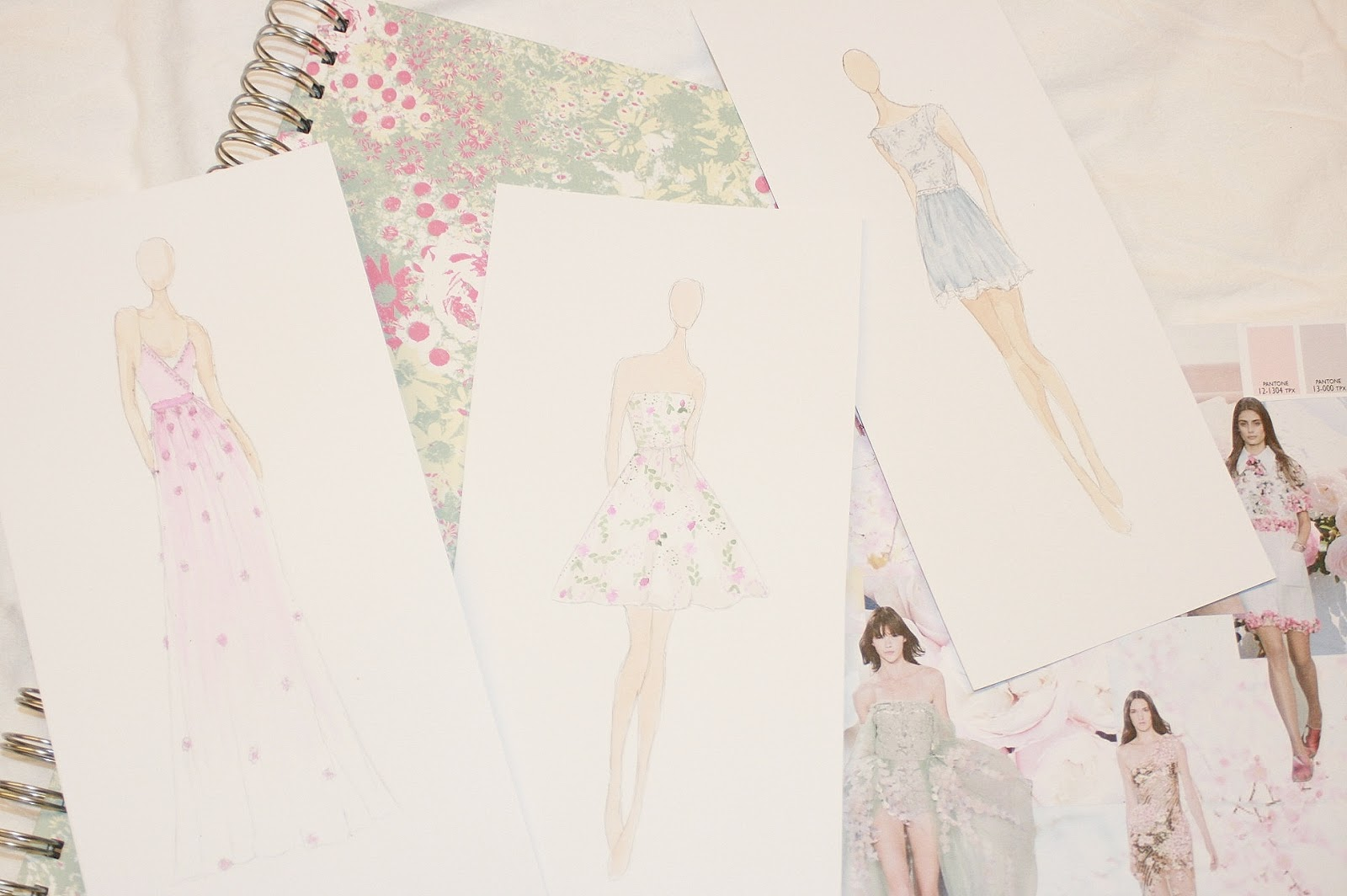Katherine Penney Chic Art Fashion Drawings Design Floral Pretty