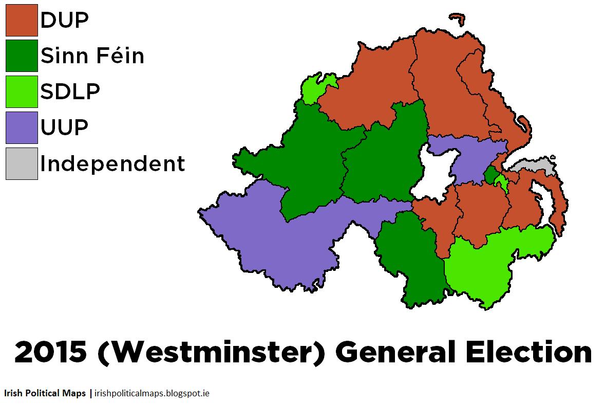 Irish Political Maps UK General Election 2015 Northern Ireland – 2015 Uk Election Map