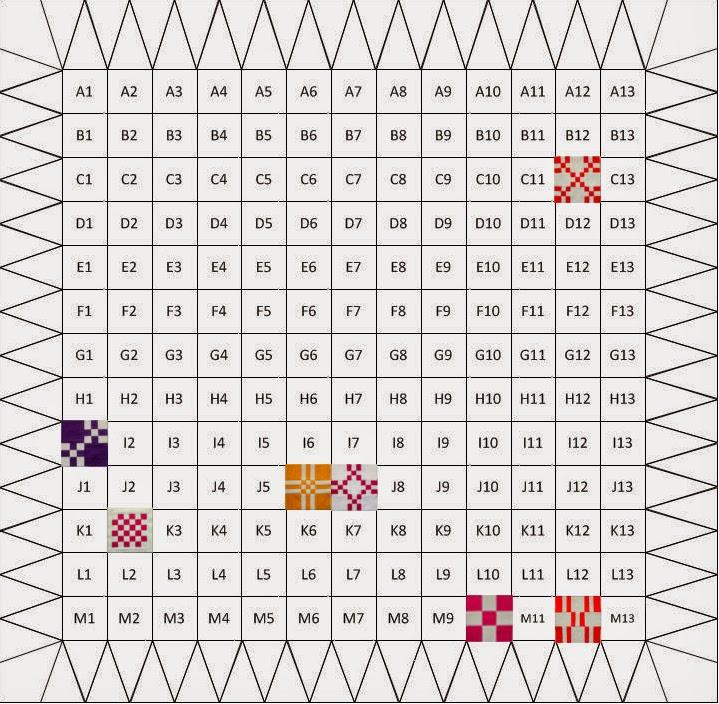 мои блоки на схеме квилта:
