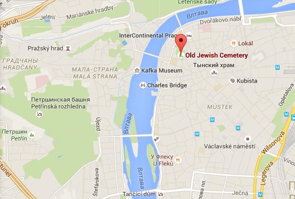 Где находится Еврейское кладбище в Праге