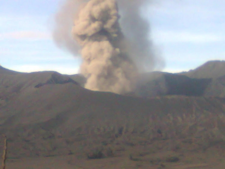 Eruption of Mount Bromo