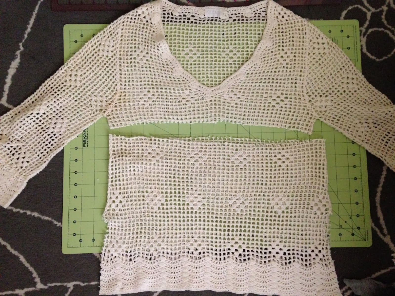 Ulterior Alteration Crochet T-Shirt Refashion