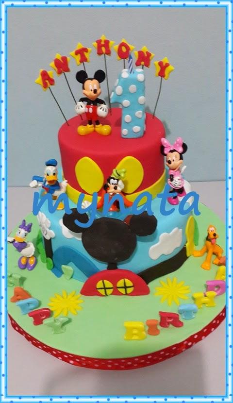 Mynata Cakes Mickey Mouse Birthday Cake For Anthony