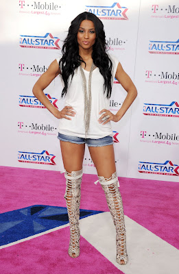 Ciara In Snakeskin Thigh Boots