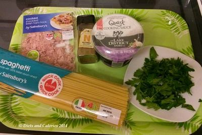 Lake district dairy quark cooking sauce garlic and herb carbonara ingredients
