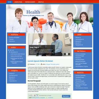 Medical Blogger Templates Health Blogger Template   DheTemplate