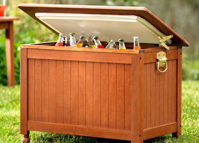 Indoor and Outdoor Wooden Ice Cooler Boxes