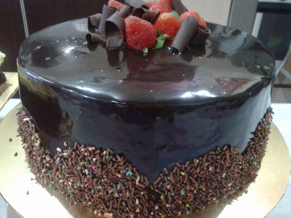 Russian Black and White Cake