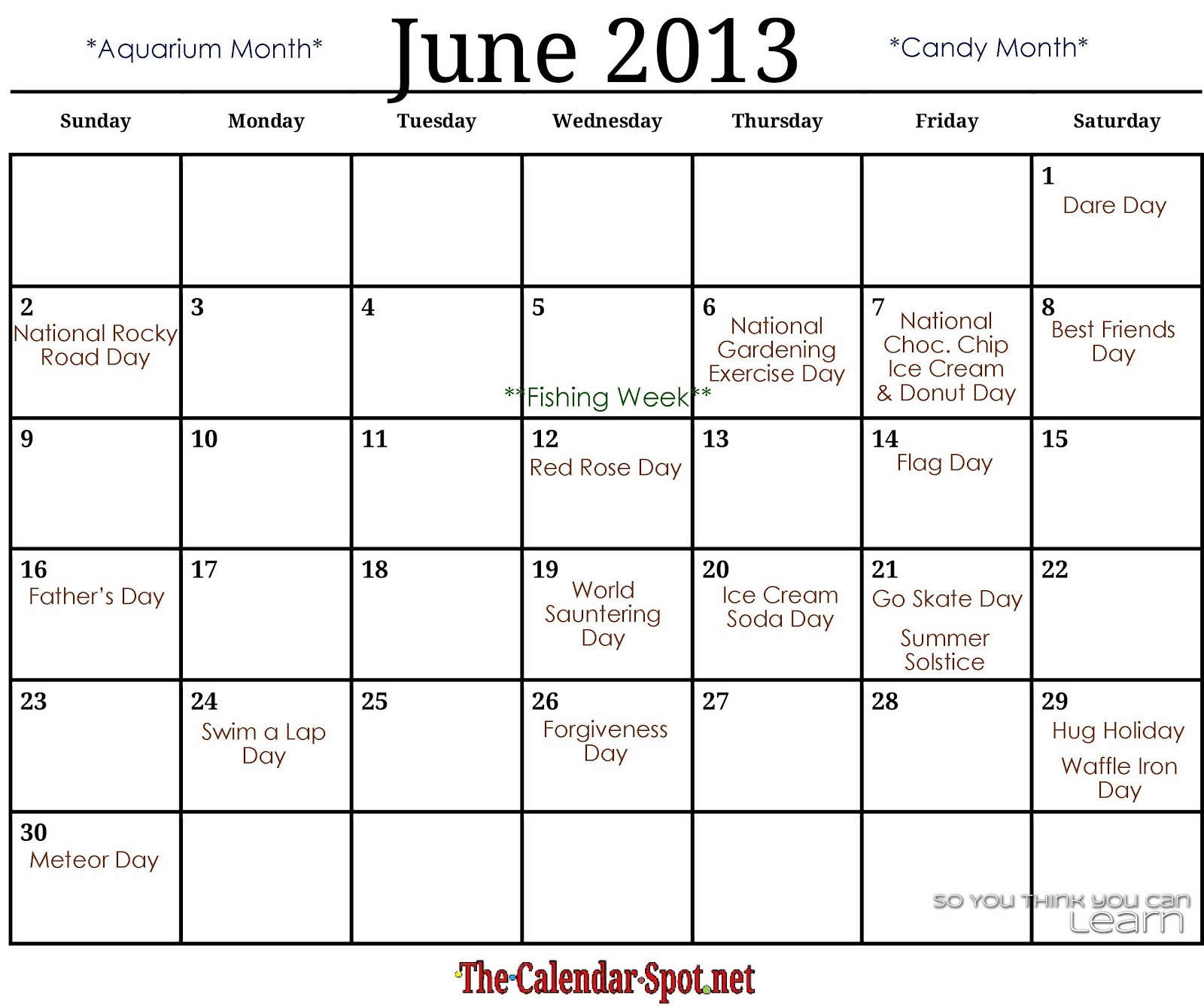 Calendar June Holidays : August observances and fun facts just b use