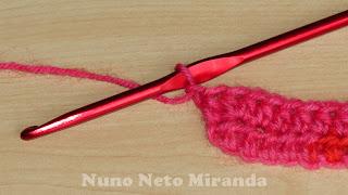 "alt=""Hdc increase, aumento mpa, crochet instruções passo a passo"""