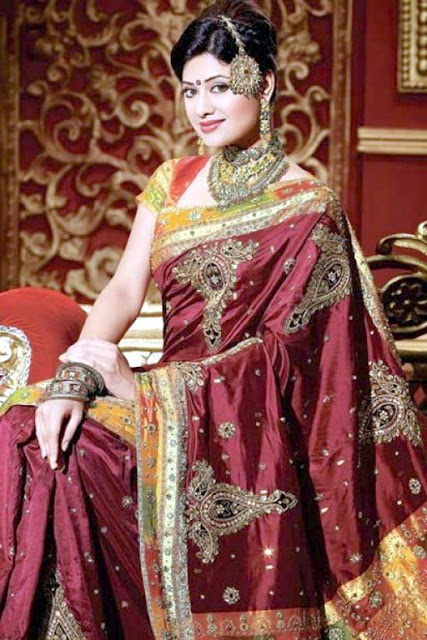 Indian Traditional Bridal Saree Design