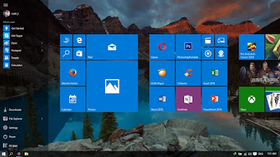 Merubah Start Menu Pada Windows 10 Menjadi Full Screen