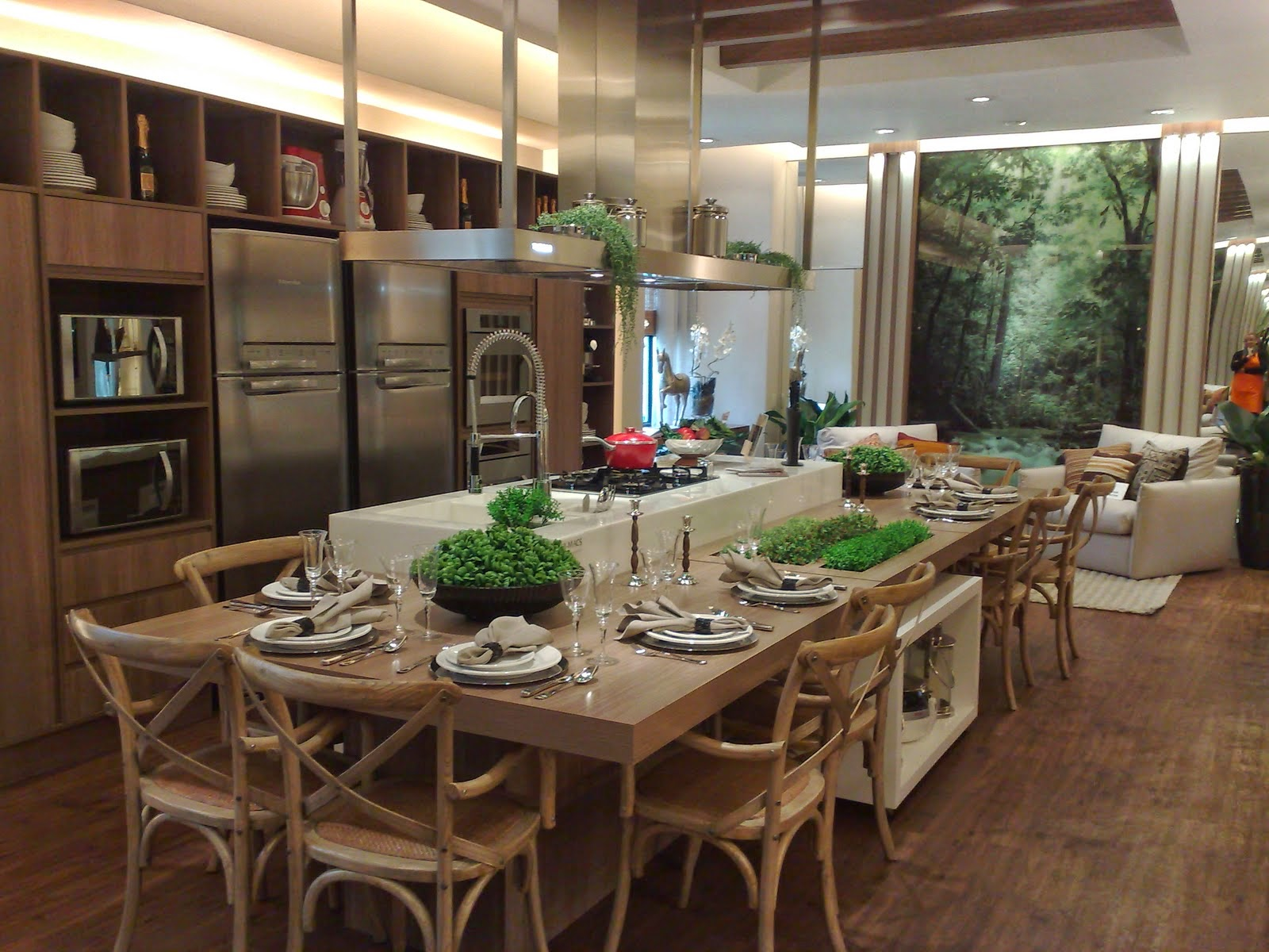 Cozinhas com ilhas – veja dicas   30 modelos de ilhas de cocção e  #8A7C41 1600 1200