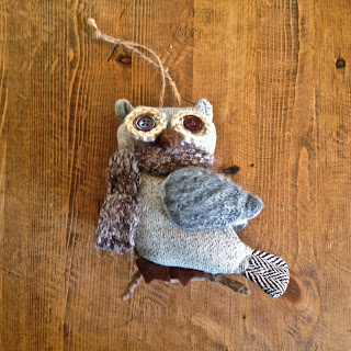 anthropologie owl ornament
