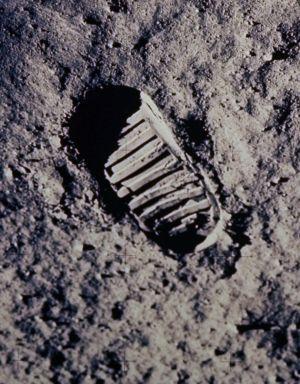 Huella de Neil Armstrong