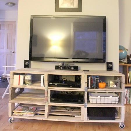 mueble para tv con palets reciclados