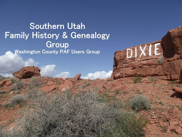 Southern Utah Family History & Genealogy Group