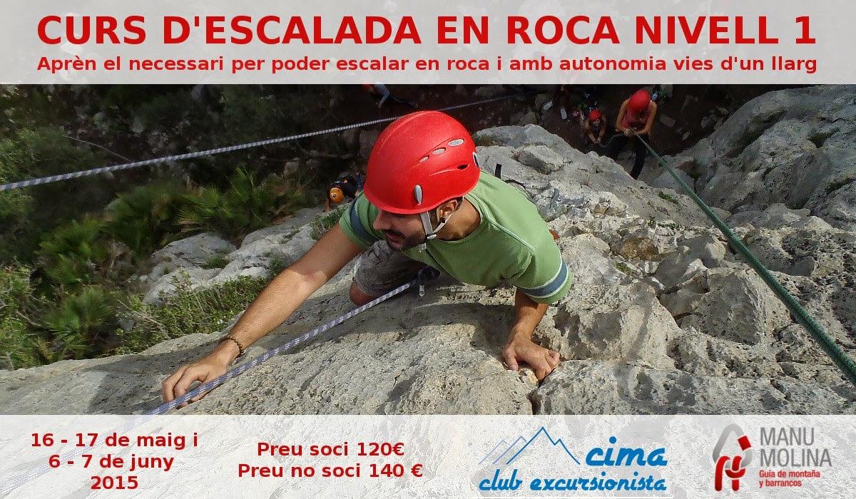 Curso de escalada en roca iniciación