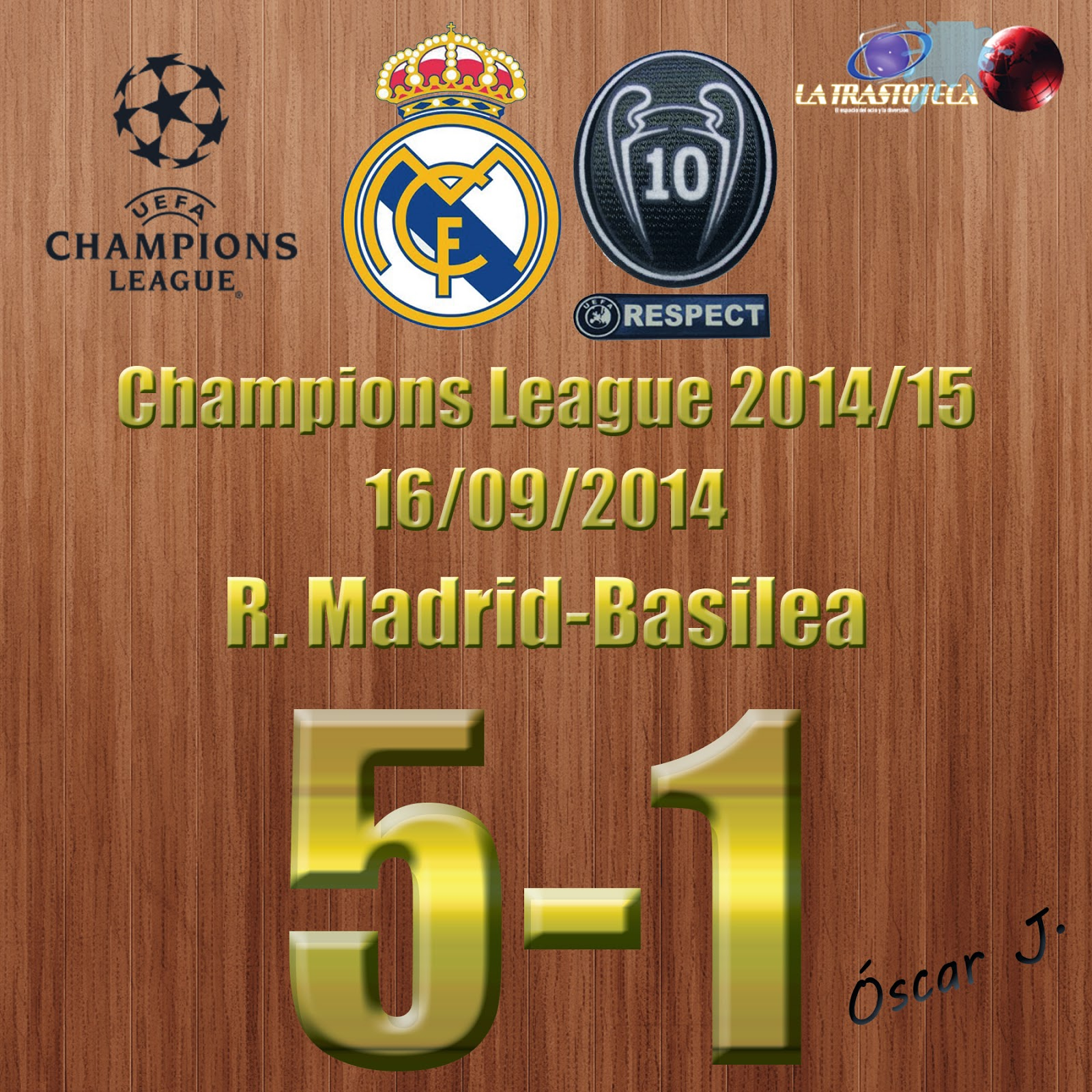 Real Madrid 5-1 Basilea - Champions League Jornada 1 (16/09/2014)