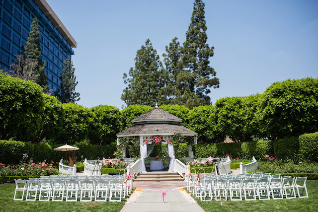 Disneyland Wedding - Rose Court Garden