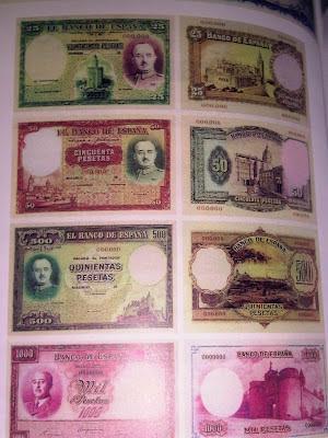billetes de franco curiosidades