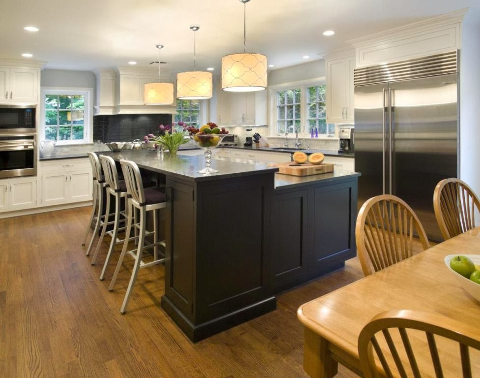 Design A Kitchen Island: L Shaped Kitchen with Island Ideas
