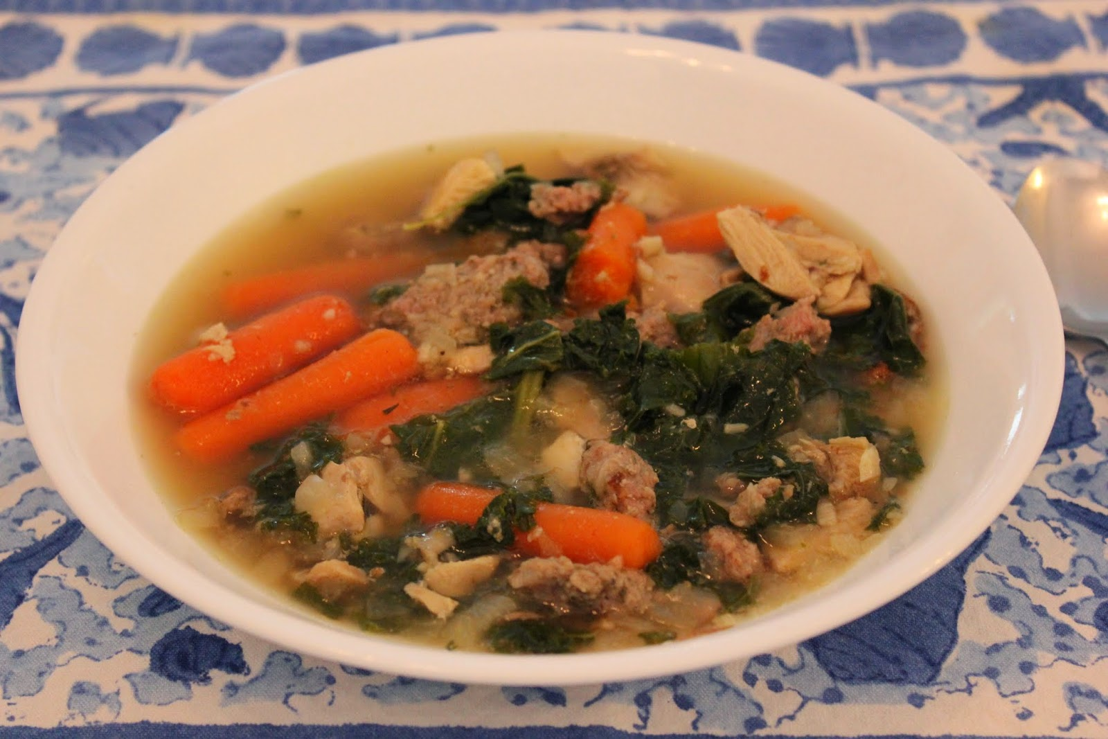 chicken, sausage and kale soup