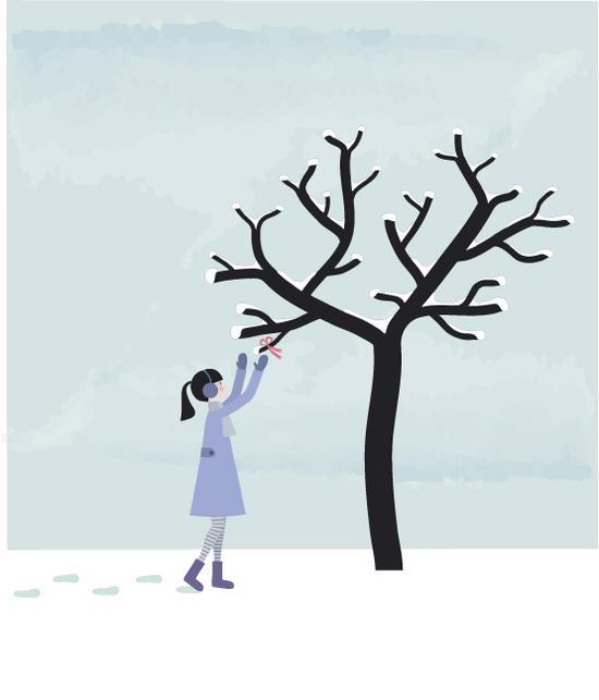 D 39 une berge l 39 autre l 39 arbre et l 39 hiver calendrier de l 39 avent 22 - Dessin sur l hiver ...