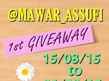 1st GIVEAWAY bt@Mawar_Assufi