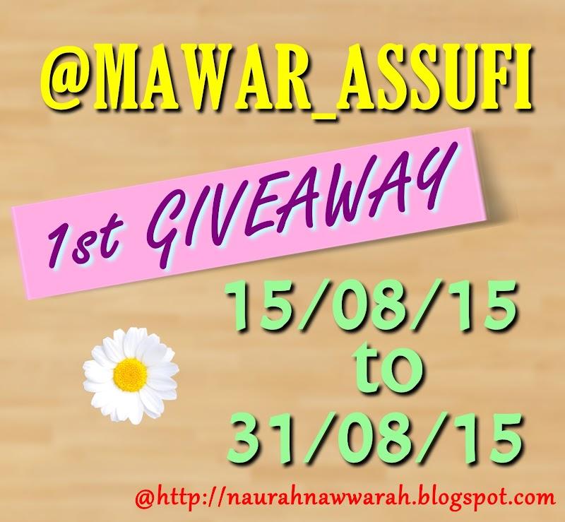 1st Giveaway by @ Mawar_Assufi