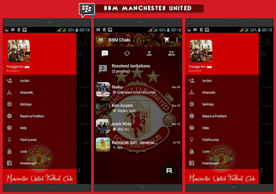BBM MOD Manchester United Versi 2.10.0.31 APK