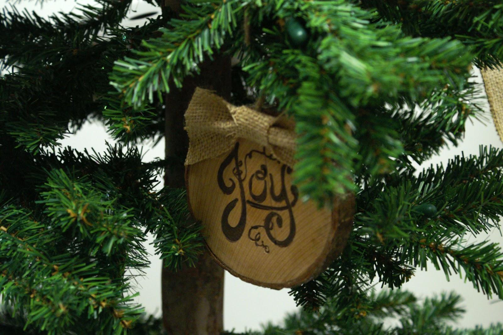 Wood Slice Christmas Tree Decoration
