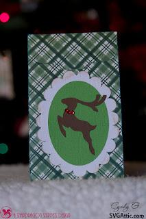 Treat bag with reindeer