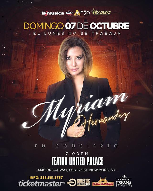 Myrian Hernandez en el teatro United Palace