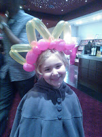 Top Ender at Brave Premier with Traditional Scottish Balloon Headdress