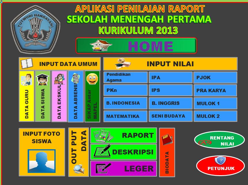APLIKASI RAPORT K13 SMP Update Revisi Terbaru