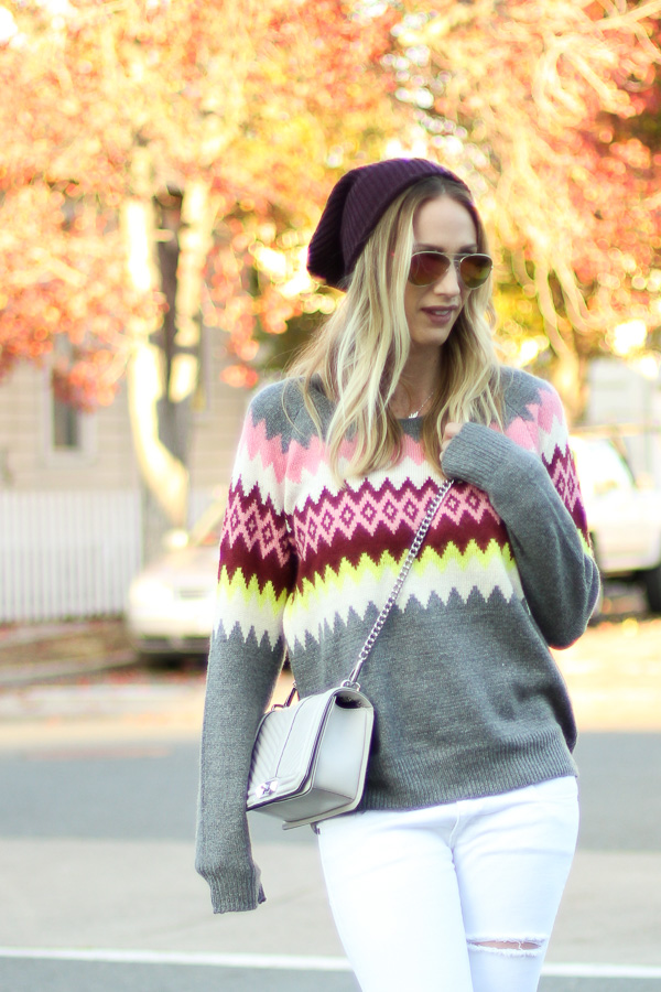 fair isle sweater style