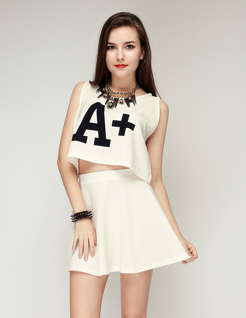 A+ Crop Top & Skater Skirt Set