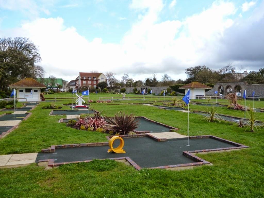 Splash Point Mini Golf at Worthing's Denton Gardens in April 2014