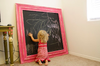 http://dejavucrafts.blogspot.com/2011/09/phase-1chalk-board-for-playroom.html