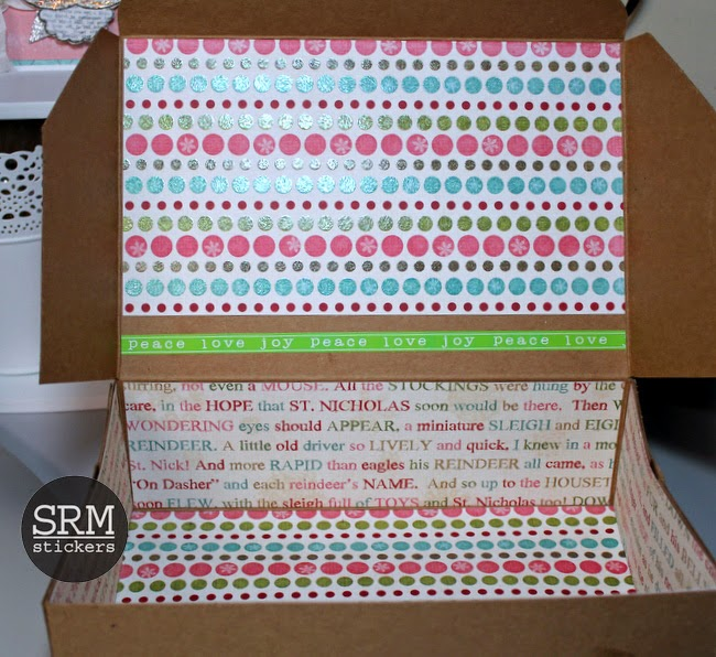 SRM Stickers Blog - Kraft Box Free For All by Shantaie - #christmas #krfatbox, #doilies #packaging #stickers #labels #giftbox