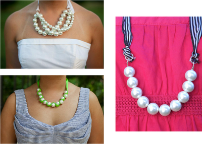 DIY, pearls, ribbon, necklace, Catholic wedding planning, Catholic wedding blog, Catholic brides