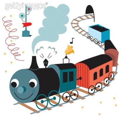 em casa com os filhos trens